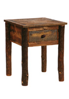 Barnwood Nightstand with Hickory Legs