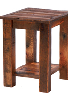 Barnwood End Table with Shelf