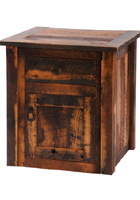 Barnwood Enclosed End Table