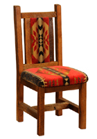 Barnwood Artisan Upholstered Dining Chair