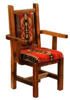 Barnwood Artisan Upholstered Arm Chair