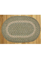 Green/Gray Braided Rug