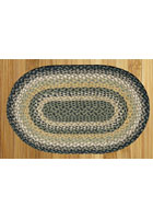 Black Mustard and Creme Braided Rug