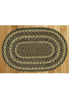 Ebony, Ivory and Chocolate Braided Rug
