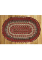 Burgundy Braided Rug