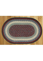 Blue and Burgundy Braided Rug
