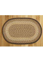 Chocolate and Natural Braided Rug