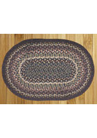 Blue and Ivory Braided Rug