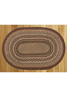 Burgundy and Ivory Braided Rug