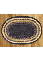 Blue and Mustard Braided Rug