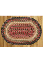 Burgundy, Charcoal and Dusty Rose Braided Rug