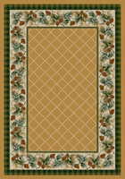 Evergreen Area Rug - Light Maize