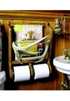 Antler Toilette Paper/Magazine Holder