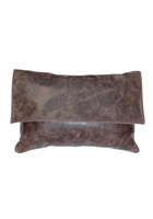 Fargo Chocolate Leather Pillow