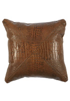 Rustic Gator Leather Pillow