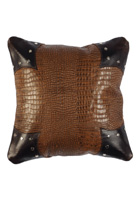 Gator Leather Pillow