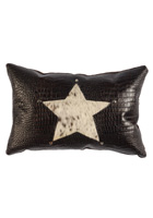Gator Star Studded Leather Pillow