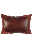 Ruby Leather Pillow
