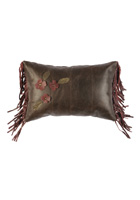 Floral Leather Pillow