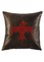 Thunderbird Leather Pillow