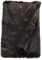 Black Fox Fur Throw