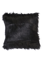 Black Fox Fur Pillow