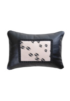 Moose Track Leather Pillow