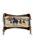 Run Wild Leather Pillow