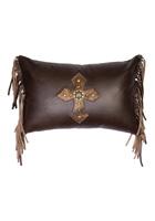 Mesa Espresso Leather Pillow