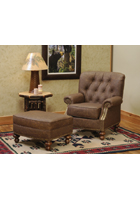 Cooper Leather Chair and Ottoman