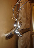 Silver Deer Head