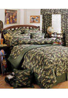 Green Camo Bedding