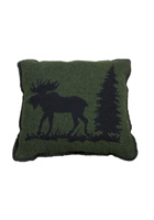 Moose I Wool Pillow