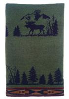 Moose I Wool Throw