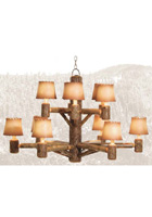 Rocky Mountian 12 Light Chandelier
