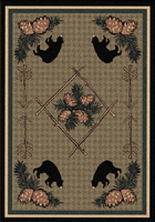 Pinecone Bears Area Rug