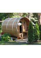 Knotty White Cedar Barrel Sauna