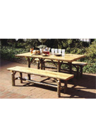 Split Log Dining Table