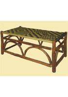 Sun Valley Coffee TableWith Woven Top