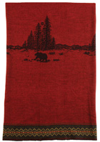 Wooded River Bear Wool Throw