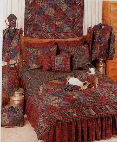 Tartan Log Cabin Linens