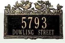 Woodland Wren Address Plaque